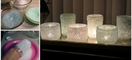 Awesome Winter DIY Decor Idea: How To Make Gorgeous Epsom Salt Luminaries