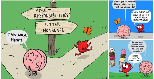 Heart Vs. Brain: This Interesting And Funny Webcomic Shows The Constant Battle Between Our Intellect And Emotions