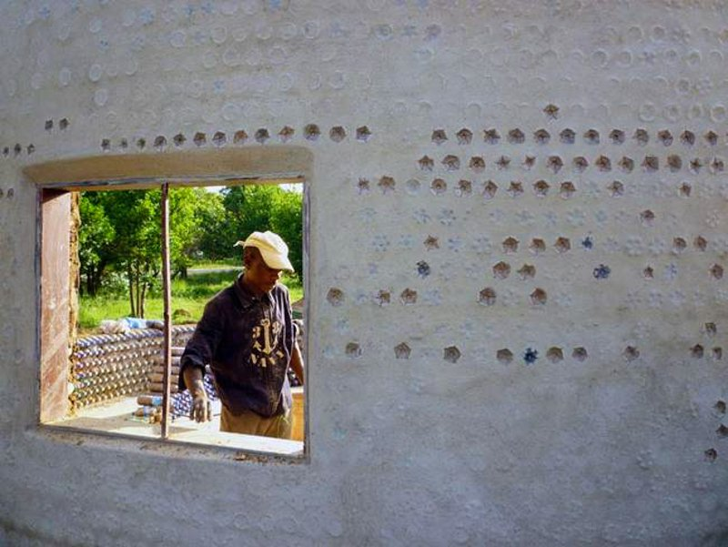 Absolutely Genius Idea: Fireproof, Bulletproof, And Eco Friendly Homes Built With Plastic Bottles And Mud