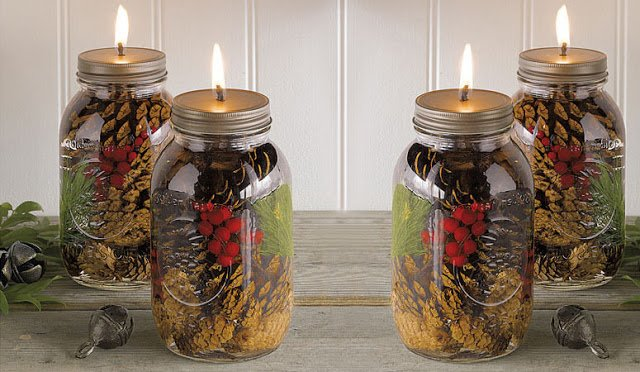 Use Any Spices You Like: Citrus Rinds, Apple Peels.. And Make Your Own Mason Jar Oil Candles!