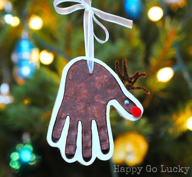 13 adorable christmas salt dough ornaments for kids that you can diy reindeer handprint ornament solutioingenieria Images