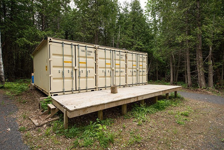 This Cabin In The Woods Is Built Out Of 3 Shipping Containers, Wait Till You See Inside!