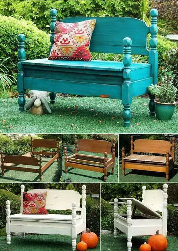 diy furniture makeover ideas. diy furniture makeover ideas 5turn old beds into wonderful benches d g