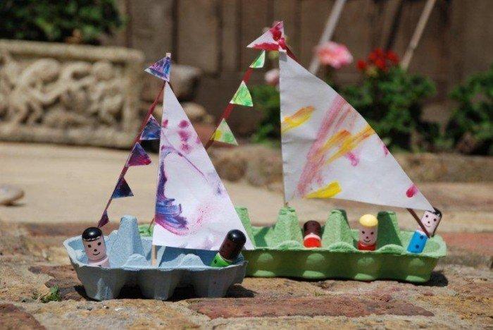 Поделки для ребенка из подручных материалов