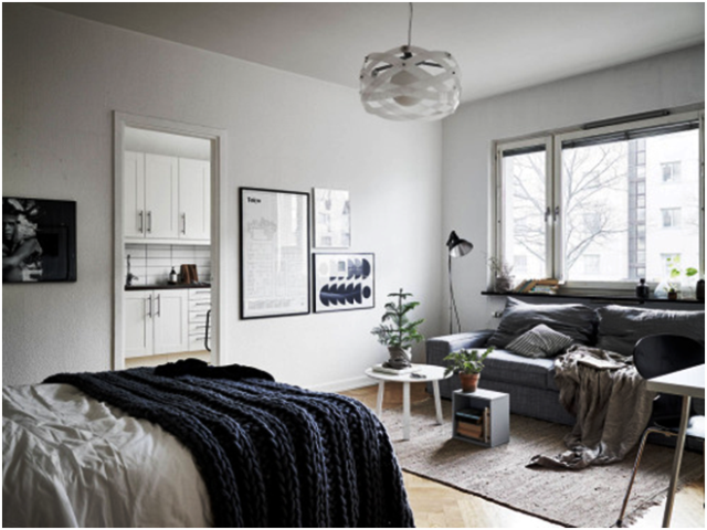 Gray And Beige Combo For Perfect Studio Apartment , 8 Inspiring Ideas Worth Be Seen