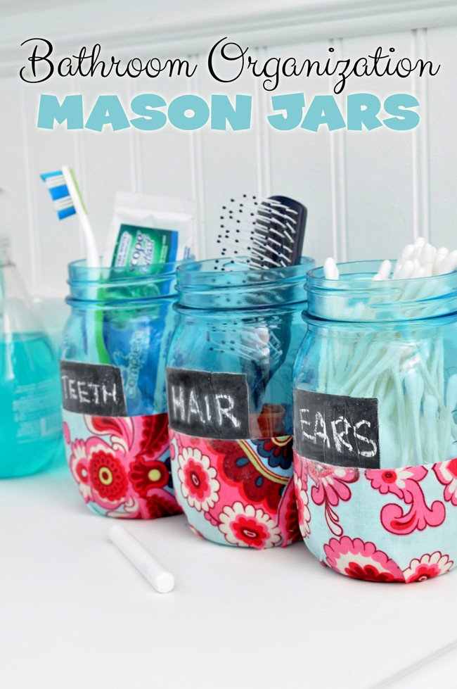 Fancy Bathroom Organization Mason Jars