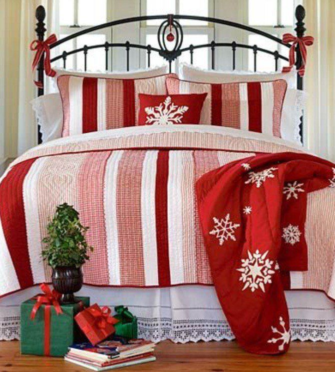 bedrooms christmas decor ideas