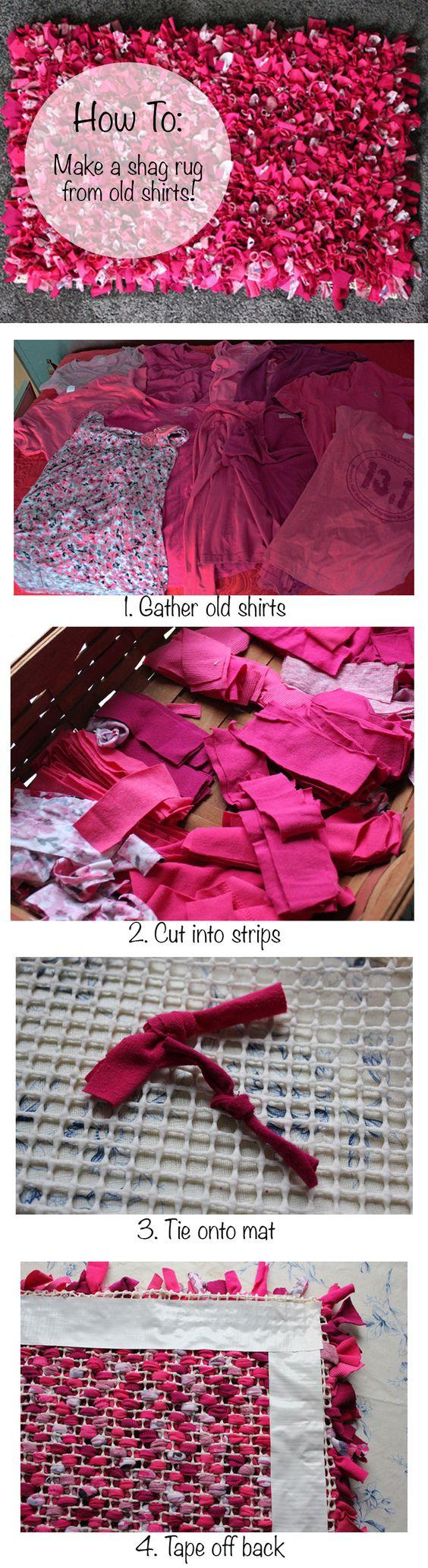 Home office design brilliant ideas for diy rug ra for How to make rugs out of old t shirts