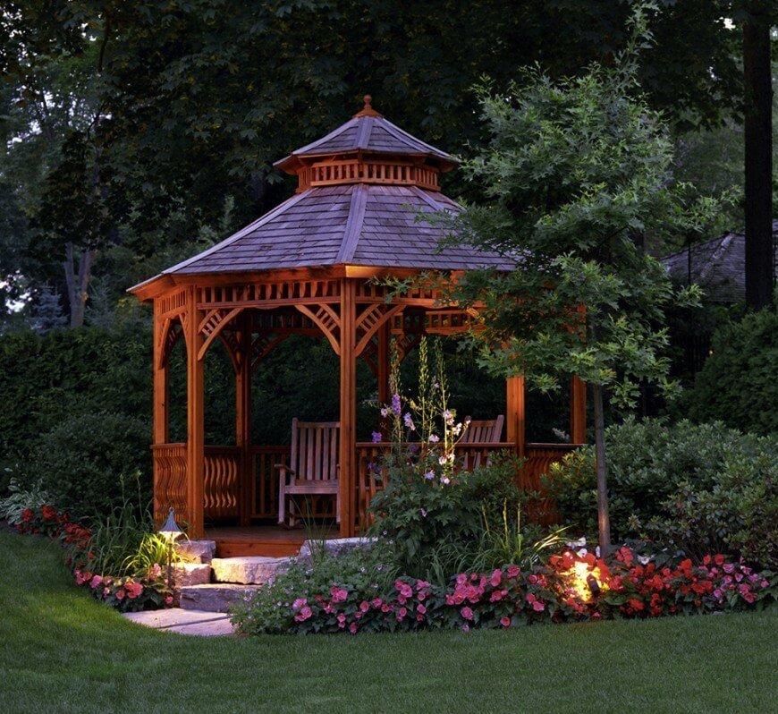 outstanding backyard landscaping ideas gazebos in the landscape