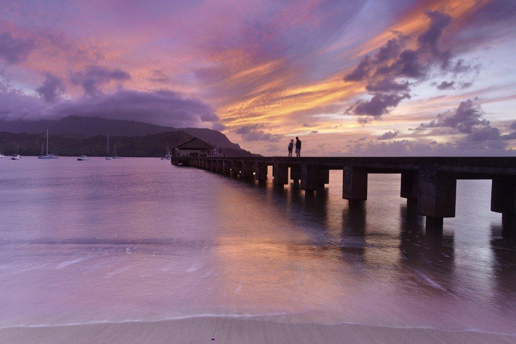 Sharing the sunset #1 - Hanalei, Kauai, Hawaii