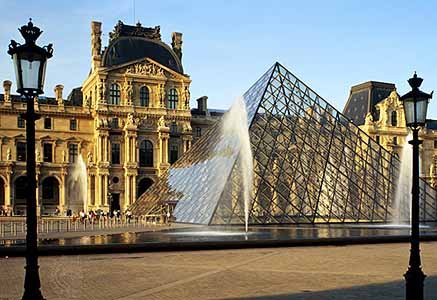 Louvre water features