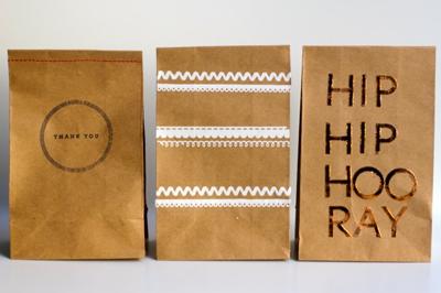 DIY favor paper bags