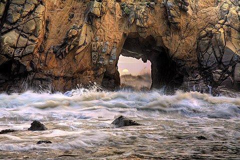 Portal of the Sun - Pfeiffer Beach, California