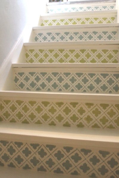 Stenciled-Stairs