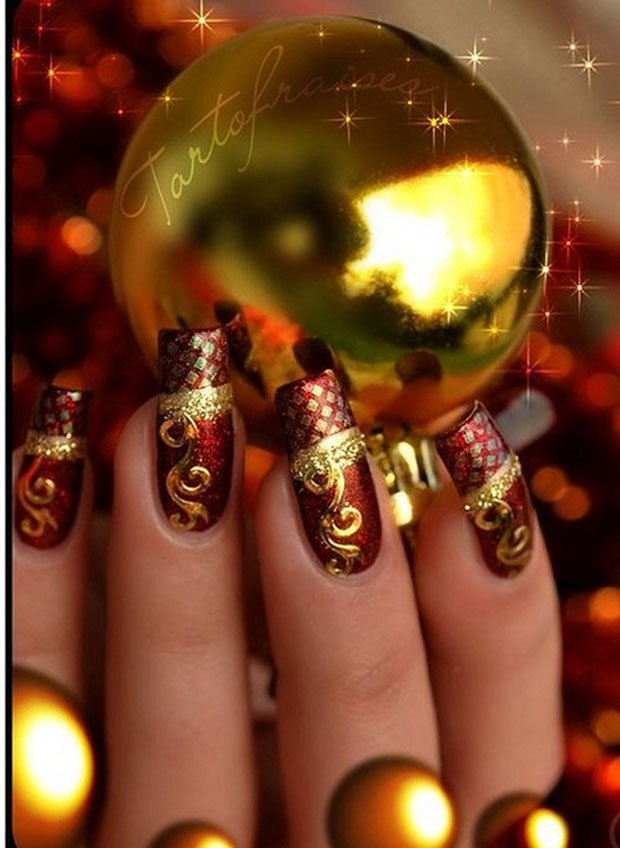 golden-gliter-nail-art-13
