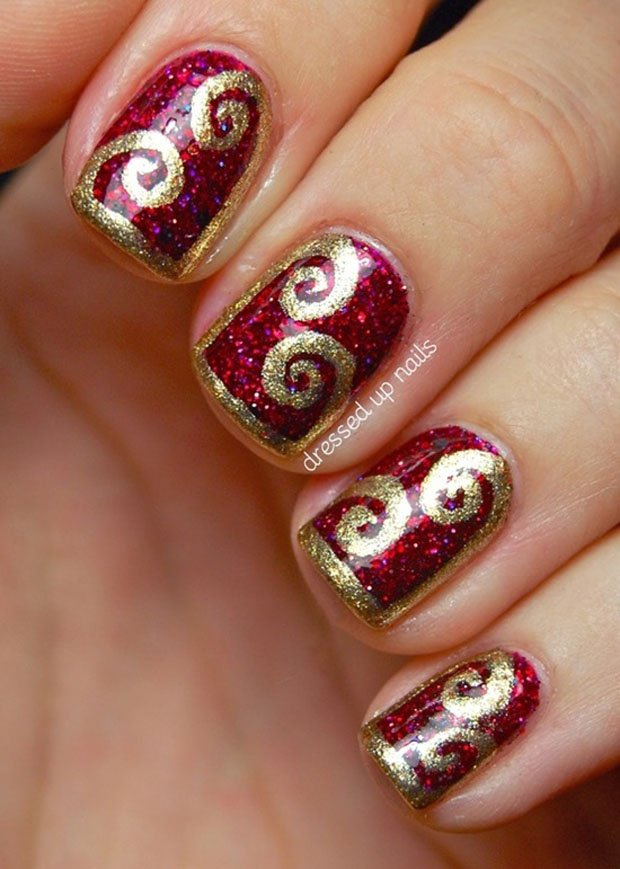 golden-gliter-nail-art-14