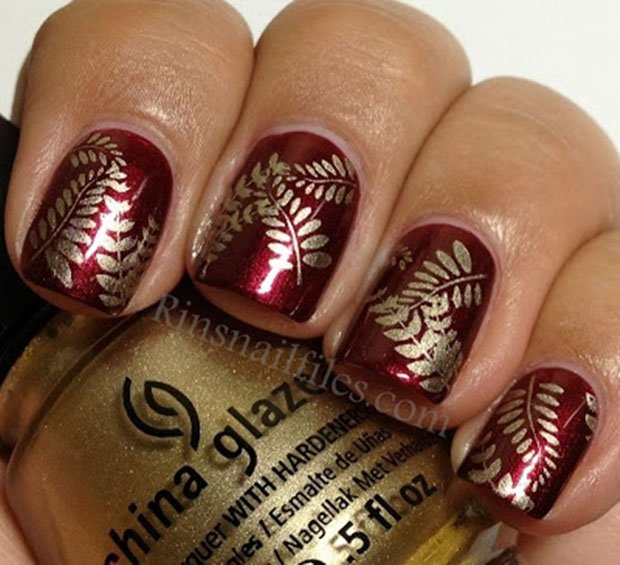 golden-gliter-nail-art-7