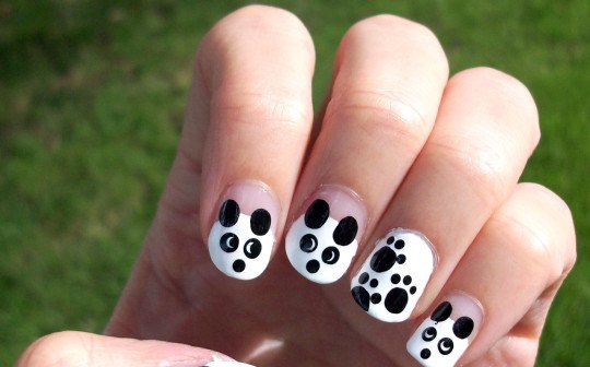 Black And White Nail Art Design World Inside Pictures
