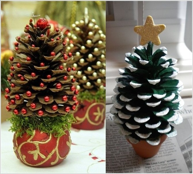 wonderful pine cone christmas trees for you to craft - Homemade Pine Cone Christmas Decorations