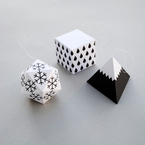 1 - Cardboard Christmas Decorations