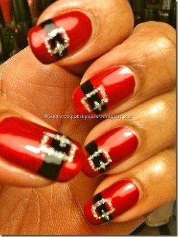 Christmas Inspired Nail Design 1