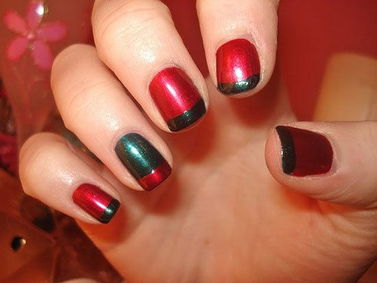 15 simple easy christmas nail art designs ideas - Simple Christmas Nails