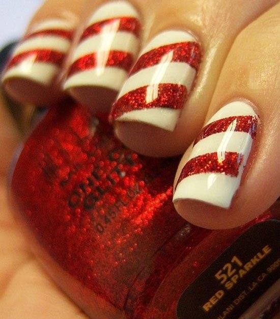 Easy Christmas Nail Art: 22 Christmas Nail Art Designs