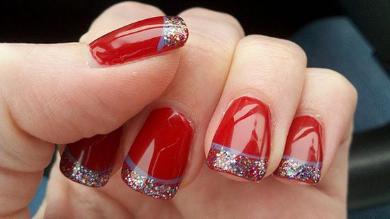 15 simple easy christmas nail art designs ideas - Christmas Nail Decorations
