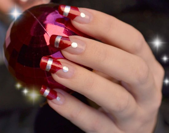 15 Simple Easy Christmas Nail Art Designs Ideas 2012 For Beginners Learners 9