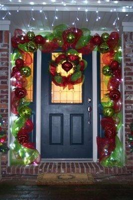 front door christmas decor - Christmas Front Door Decorations Diy