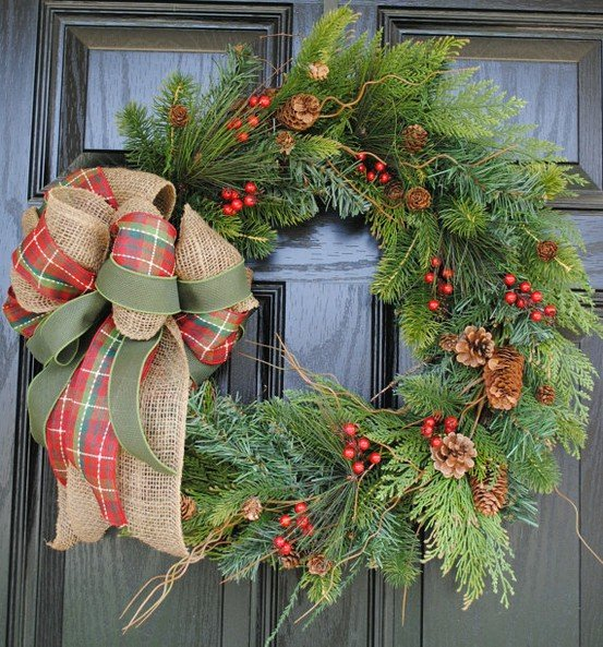 Rustic Christmas Wreath Diy.21 Diy Christmas Decorations World Inside Pictures