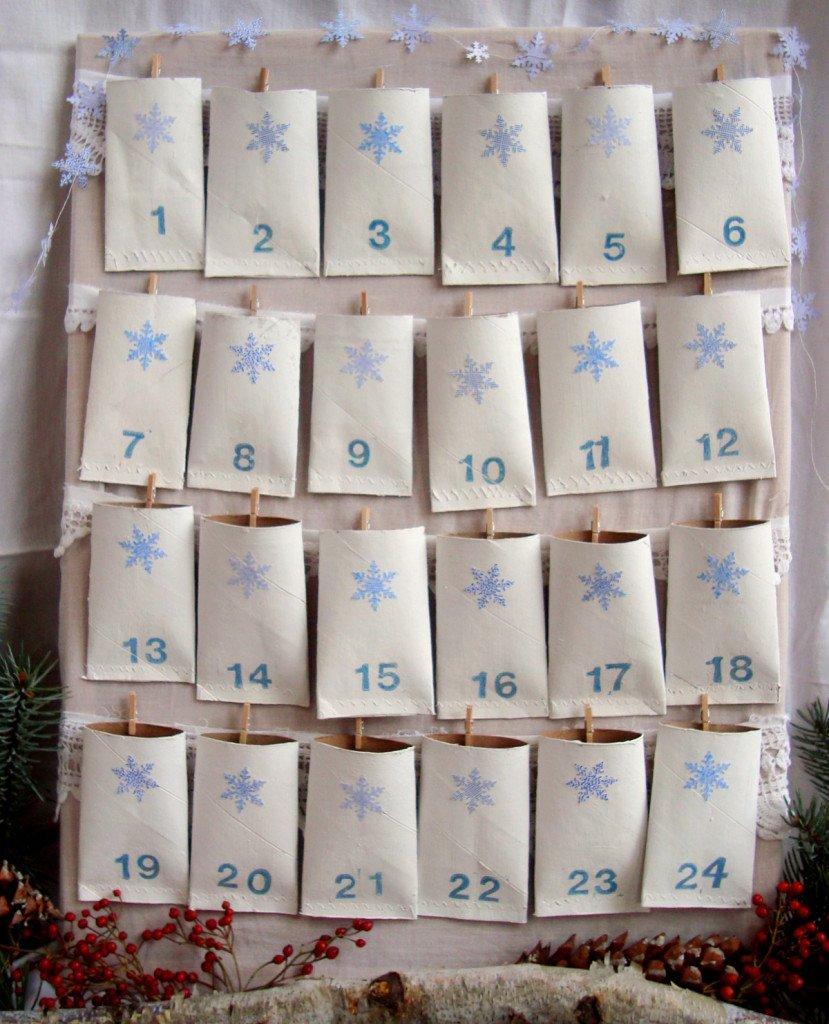 toilet paper rolls christms calendar
