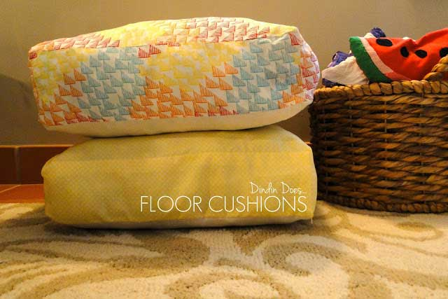 homemade floor cushions