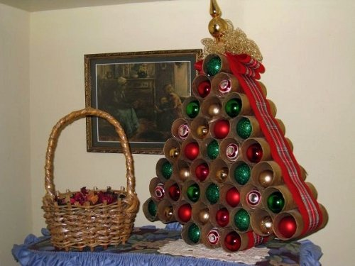 christmas tree toilet paper rolls