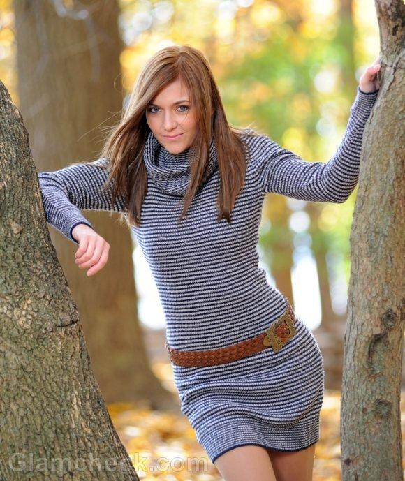 Women Wearing Sweater Dresses