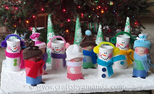 diy christmas ornaments toilet paper roll