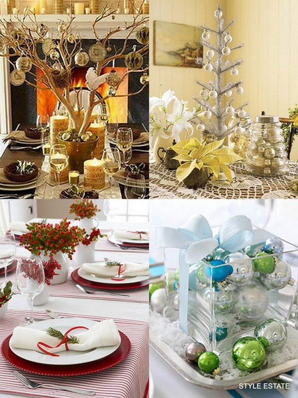 Modern Christmas Table Decorations World Inside Pictures