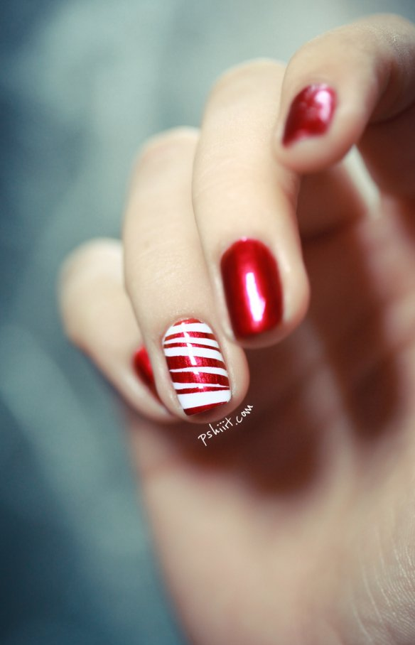 15 wonderful diy nail art tutorials world inside pictures candy cane nail art solutioingenieria Image collections