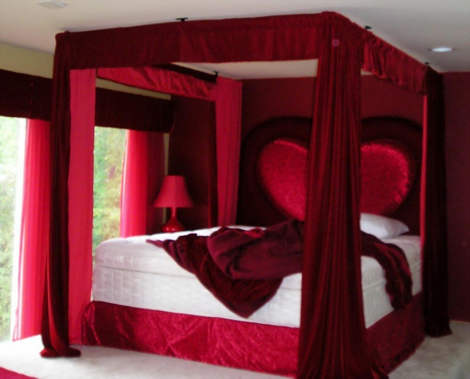 appealing romantic red bedroom design | 12 Romantic Bedroom Ideas In Red Color | World inside pictures