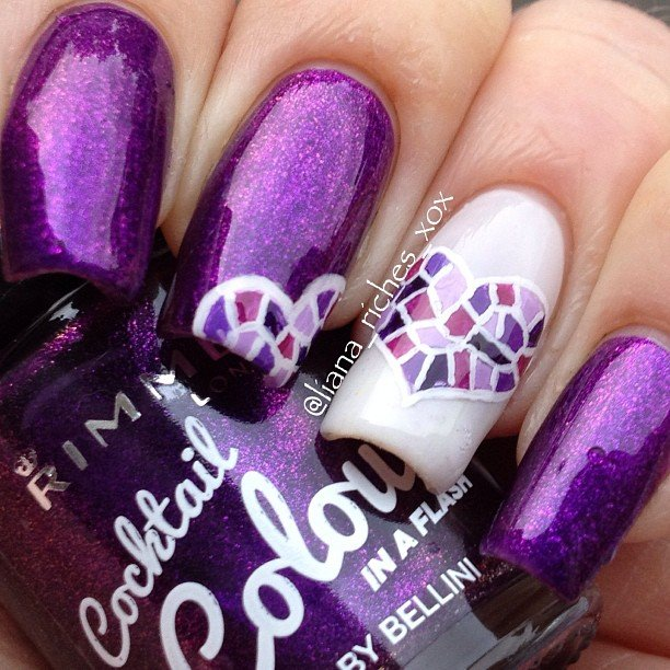 30 Best, Simple & Charming Valentine's Day Nail Art
