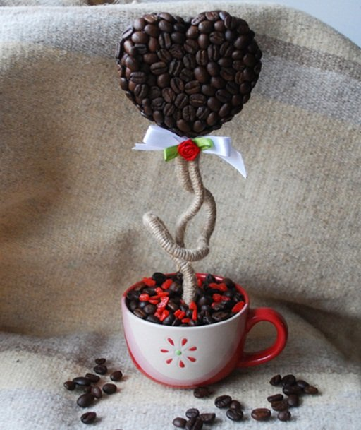 Homemade Valentine S Day Gift Ideas 15 Heart Shaped Topiary Trees With Coffee