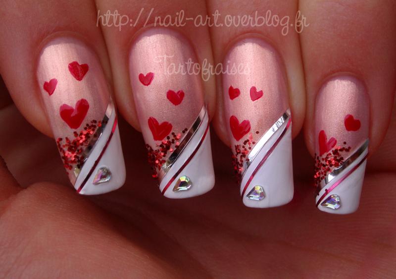 Dorable Valentines Nail Art Ideas Illustration - Nail Paint Design ...