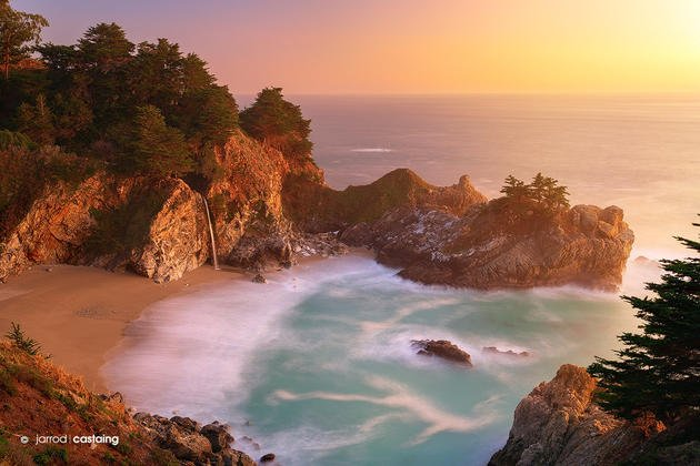 sunset-mcway-falls-julia-pfeiffer-burns-state-park-big-sur-california