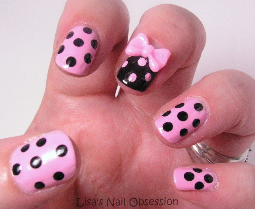 30 Stylish Nail Art Designs with Bows | World inside pictures