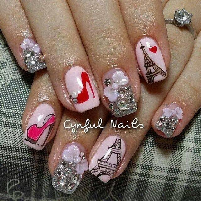 Eiffel tower nails