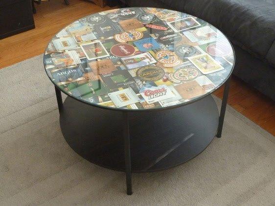 Glass Top Coffee Table Redo