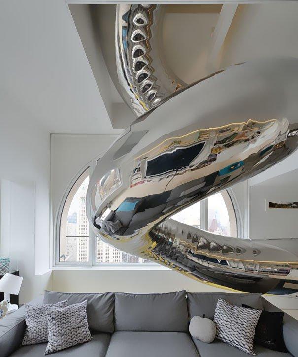 unusual indoor slide