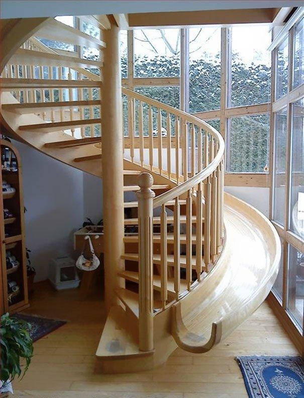 unique staircase slide