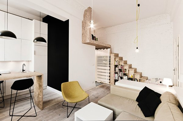 small studio apartment layout