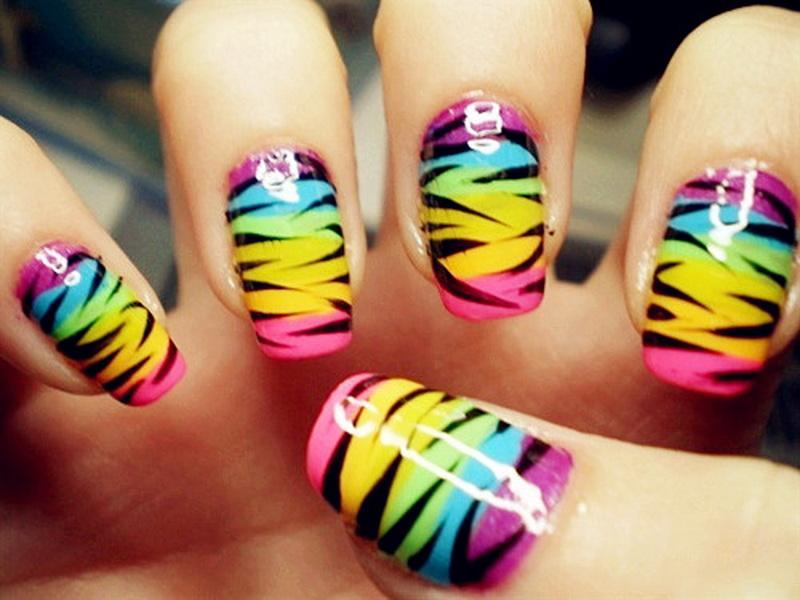 25 Trendy Neon Nail Art Designs World Inside Pictures